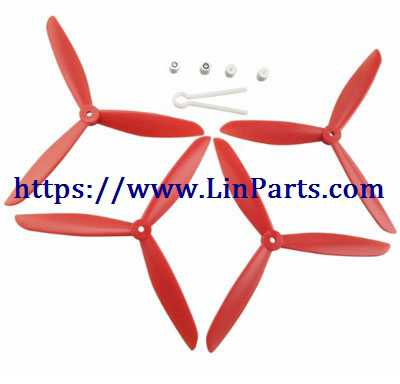 MJX BUGS 2 SE Brushless Drone Spare Parts: Upgrade Blades set[Red]