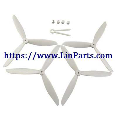 MJX BUGS 2 SE Brushless Drone Spare Parts: Upgrade Blades set[White]