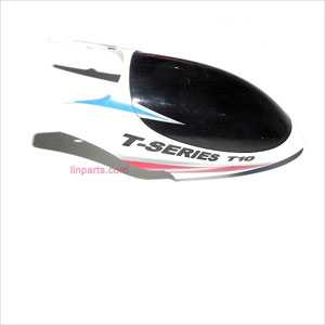 MJX T10 Spare Parts: Head cover\Canopy(white)