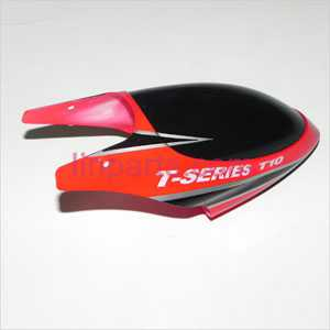 MJX T10 Spare Parts: Head cover\Canopy(red)