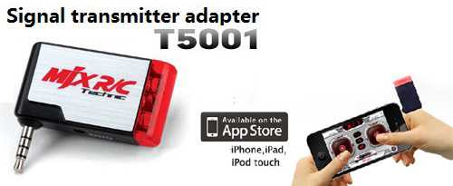 [MJX T5001] signal transmitter adapter work with iphone ipad ipo