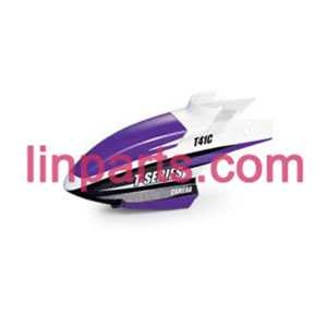 MJX RC Helicopter T41 T41C Spare Parts: Head cover\Canopy(Purple)