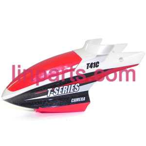MJX RC Helicopter T41 T41C Spare Parts: Head cover\Canopy(Red)