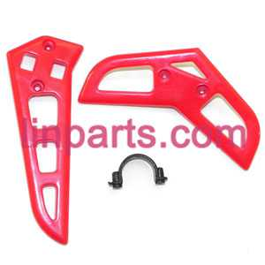 MJX RC Helicopter T41 T41C Spare Parts: tail decorative set(Red)