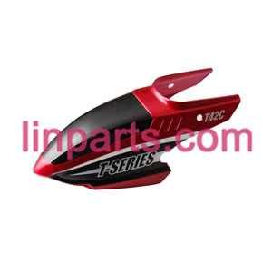 MJX RC Helicopter T42 T42C Spare Parts: Head cover\Canopy(Red)