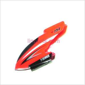 MJX T54 Spare Parts: Head cover\Canopy(red)