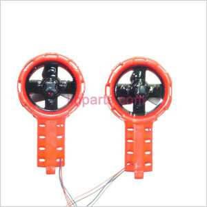 MJX T54 Spare Parts: Left and right Decorative set(red)