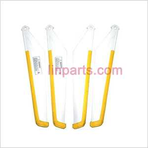 MJX T55 Spare Parts: Main blades(yellow)