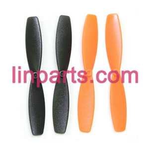 MJX RC QuadCopter Helicopter X100 Spare Parts:main blades(Orange-Black)