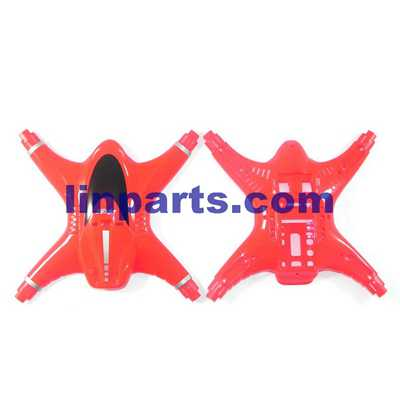 MJX X400-V2 RC QuadCopter Spare Parts: Upper Head set+Low(red)