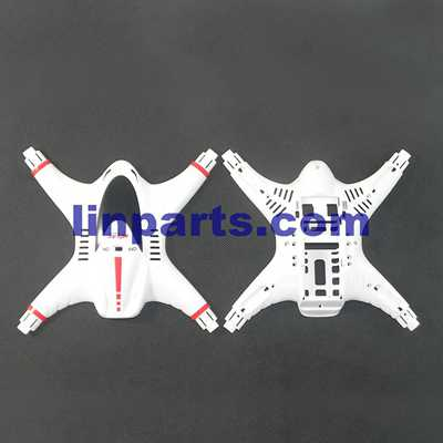 MJX X400-V2 RC QuadCopter Spare Parts: Upper Head set+Low(white)