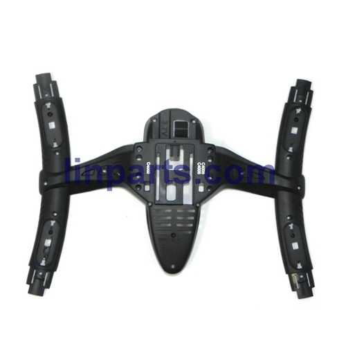 MJX X500 2.4G 6 Axis 3D Roll FPV Quadcopter Real-time Transmission Spare Parts: Lower casing