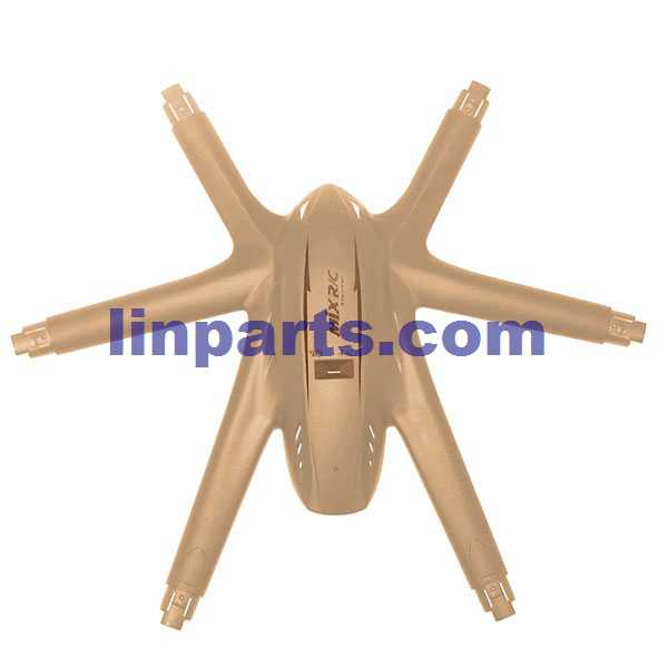 MJX X601H X-XERIES RC Hexacopter Spare Parts: Upper Head cover[Yellow]