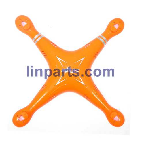MJX X705C 6-Axis 2.4G Helicopters Quadcopter C4005 WiFi FPV Camera RC Gyro Drone Spare Parts: Upper Head cover[Orange]