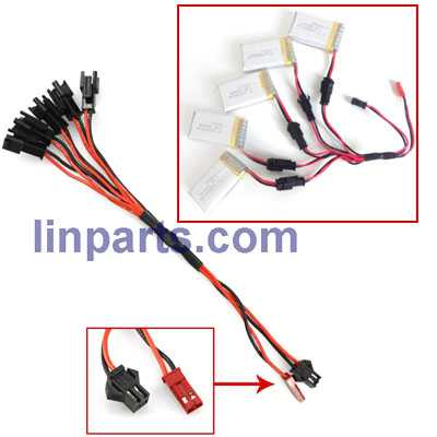 1 to 5 charger charging plug lines(Black Wiring mouth)