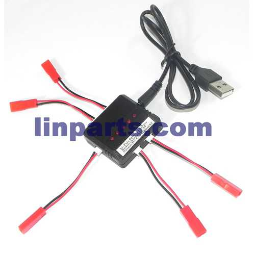 USB Charger Kit /1 charging 5 Battery(Red JTS Interface)