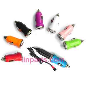 Small helicopter Colorful Mini Car charger + USB Charger(JTS Interface)