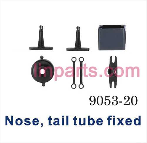 Shuang Ma 9053 Spare Parts: Fixed Set Nose tail tube fixed