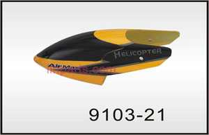 Shuang Ma/Double Hors 9103 Spare Parts: Head cover\Canopy(Yellow)