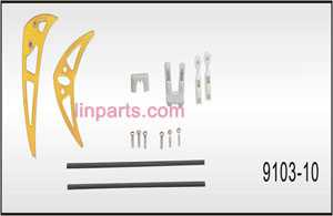 Shuang Ma/Double Hors 9103 Spare Parts: Balance stabilizer Decorative set(Yellow)