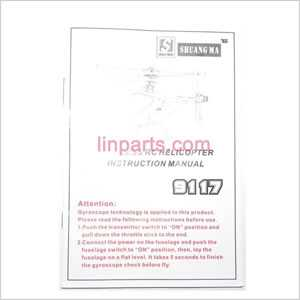 Shuang Ma/Double Hors 9117 Spare Parts: English manual book