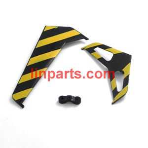 SYMA F1 Spare Parts: Tail decorative set (yellow)
