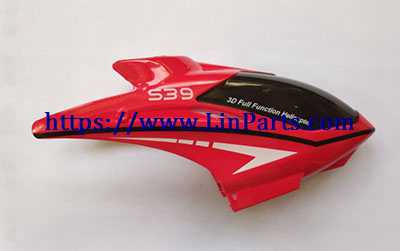 [New version]SYMA S39 RC Helicopter Spare Parts: Head cover/Canopy(Red)