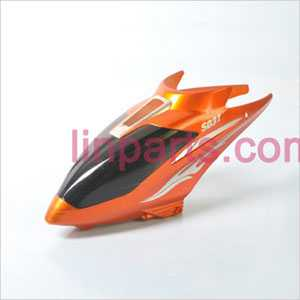 SYMA S031 S031G Spare Parts: Head cover\Canopy(Orange)