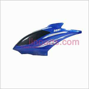 SYMA S031 S031G Spare Parts: Head cover\Canopy(Blue)