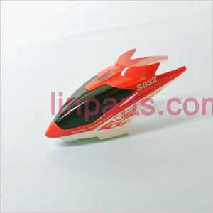 SYMA S032 S032G Spare Parts: Head coverCanopy(Red)