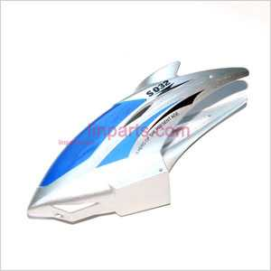SYMA S032 S032G Spare Parts: Head coverCanopy(Blue)