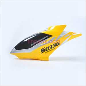 SYMA S033 S033G Spare Parts: Head cover\Canopy(Yellow)