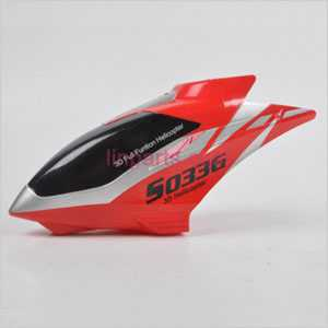 SYMA S033 S033G Spare Parts: Head cover\Canopy(Red)