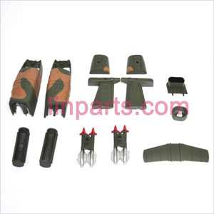SYMA S038G Spare Parts: Decorative set(Green)