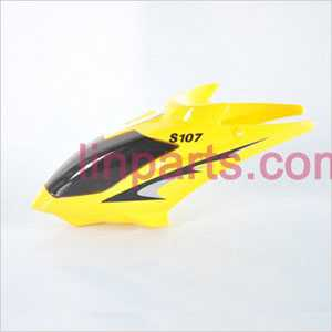 SYMA S107 S107C S107G Spare Parts: Head cover\Canopy(Yellow)