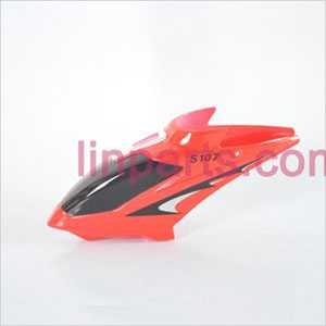 SYMA S107 S107C S107G Spare Parts: Head cover\Canopy(Red)