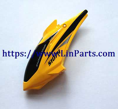 SYMA S107H RC Helicopter Spare Parts: Head cover [Yellow]