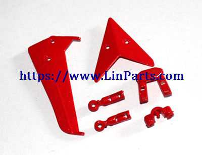 SYMA S107H RC Helicopter Spare Parts: Tail decoration [Red]
