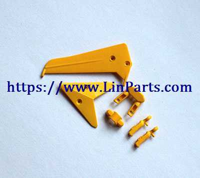 SYMA S107H RC Helicopter Spare Parts: Tail decoration [Yellow]
