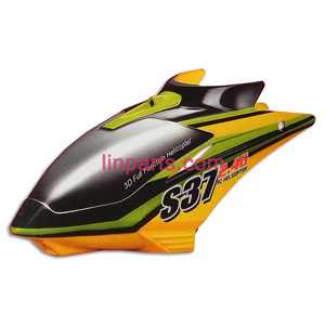 SYMA S37 Spare Parts: Head cover/Canopy(yellow)