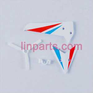 SYMA S800 S800G Spare Parts: Tail decorative set(White)