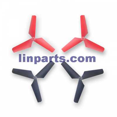 SYMA X4 4 ch remote control quadcopter Spare Parts: Blades[red+black]