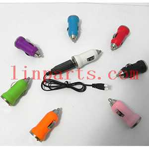 SYMA X5C Quadcopter Spare Parts: Colorful Mini Car charger + USB charger