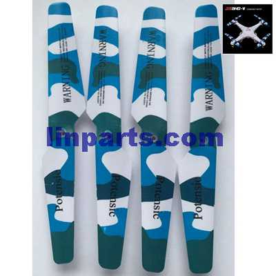 SYMA X5C Quadcopter Spare Parts: Blades set( Cool colors)