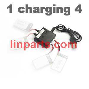SYMA X5C Quadcopter Spare Parts: Battery Charger Kit /1 charging 4