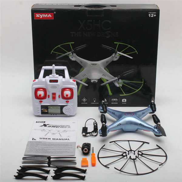 Syma X5HC With 2MP HD Camera 2.4G 4CH 6Axis Headless Mode RC Quadcopter RTF