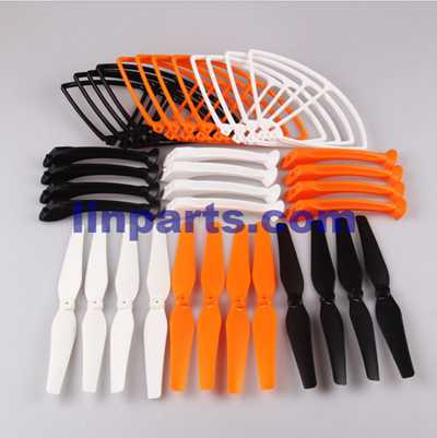 SYMA X8G Quadcopter Spare Parts: 4PCS Blades set + 4PCS Support plastic bar + 4PCS Outer frame