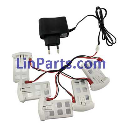 Syma X5UC RC Quadcopter Spare Parts: charger + cable conversion line 1 Torr 5 + 5pcs Battery