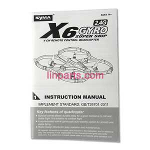 SYMA X6 Spare Parts: Manual book
