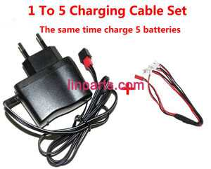 SYMA X7 RC Quad Copter Spare Parts:1 to 5 wall charger + charging plug lines